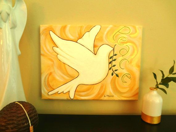 Holy Spirit Painting,Religious Art,Peace Dove, Wall Decor, Religious ...