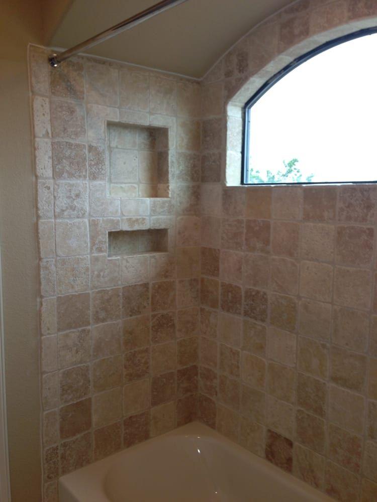 Bathtub Tile And Stone #homedecor