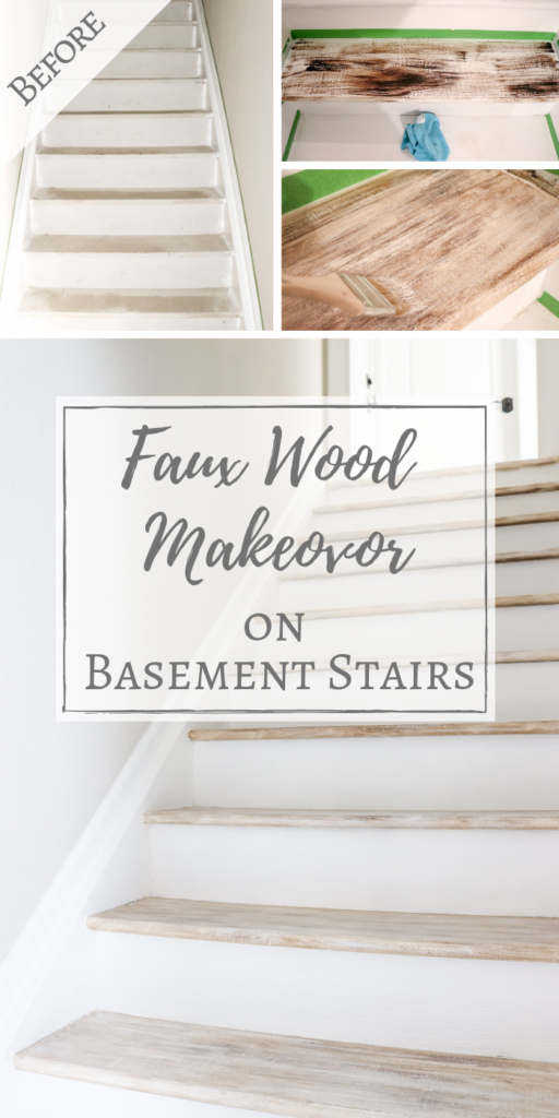 Best Faux Wood Makeover On Basement Stairs Basement Steps 400 x 300