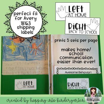 take home folder stickers for avery 18163 labels kindergarten