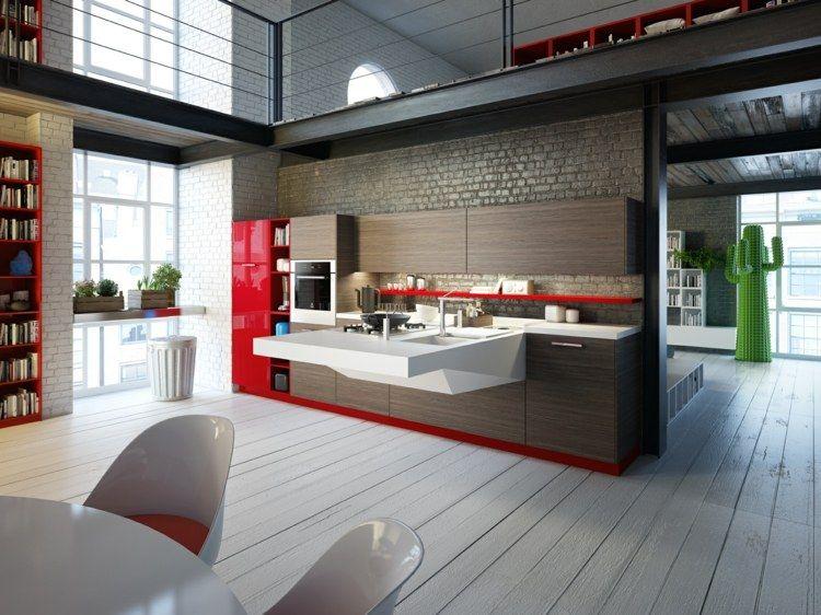Die Board Kochinsel Ist Weiß Und Kann Mit Verschiedenen Küchenfarben  Kombiniert Werden