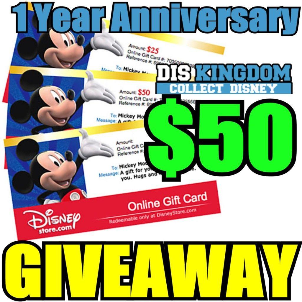 $50 DisneyStore.com Gift Card Giveaway
