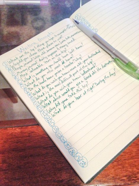 what to write in a travel journal