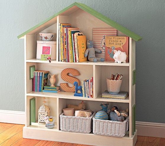 Dollhouse Bookcase Pottery Barn Kids Nursery Pinterest Kids
