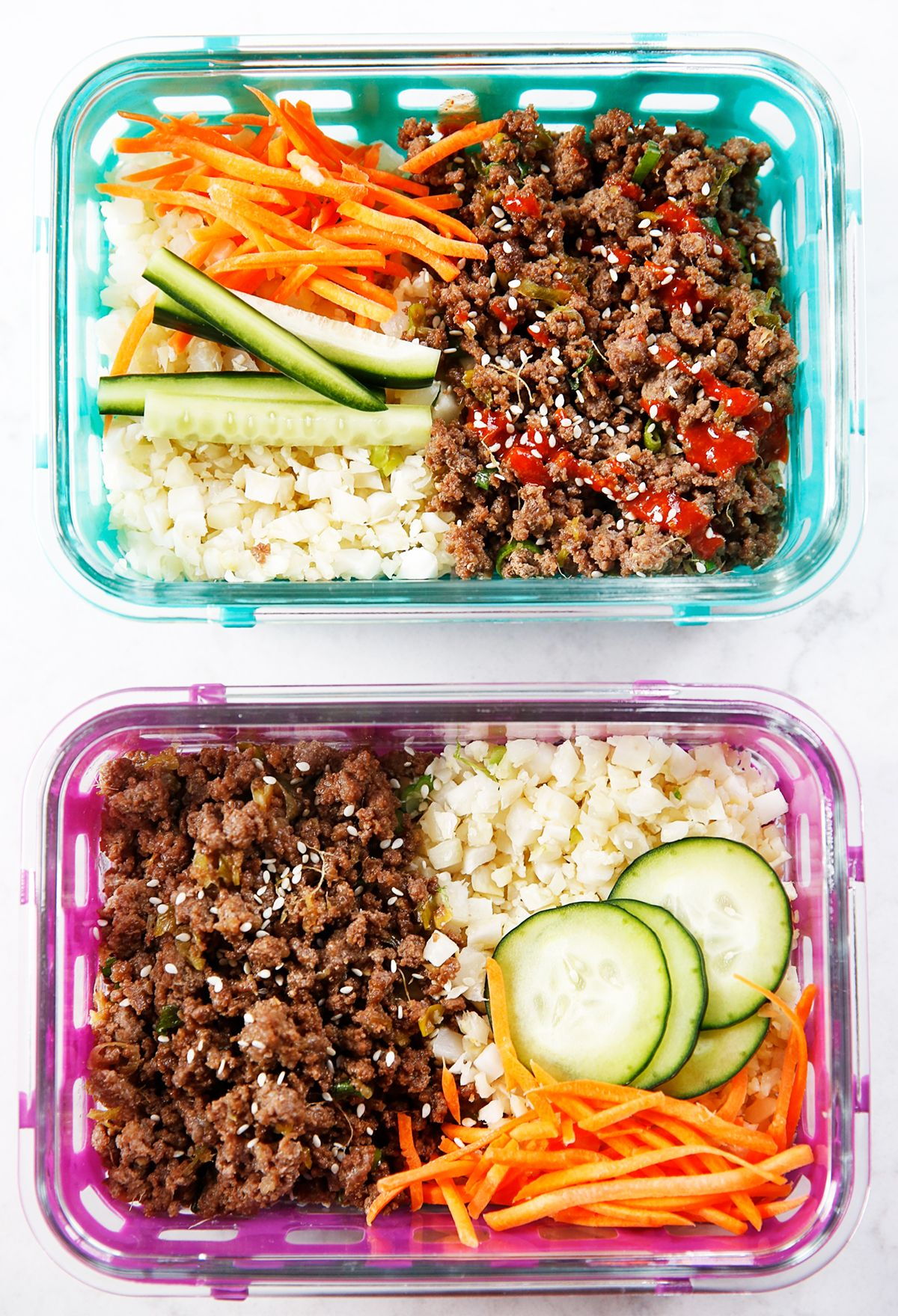 Korean Ground Beef Bowls Meal Prep Lexi S Clean Kitchen In 2020 Korean Ground Beef Ground Beef Beef Recipes