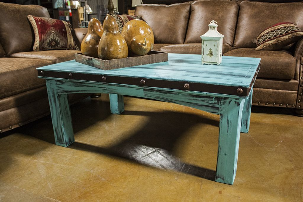 Antique Aqua Coffee Table Interested In This Piece Contact Us