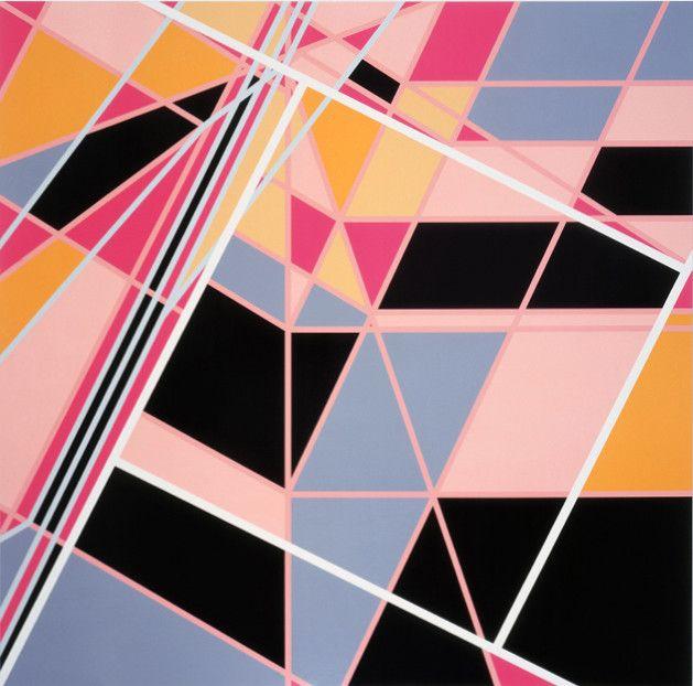 Sarah Morris Painting Pools Monaco Abstract Geometric Art ...