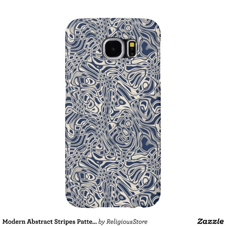 Modern Abstract Stripes Pattern Samsung Galaxy S6 Case