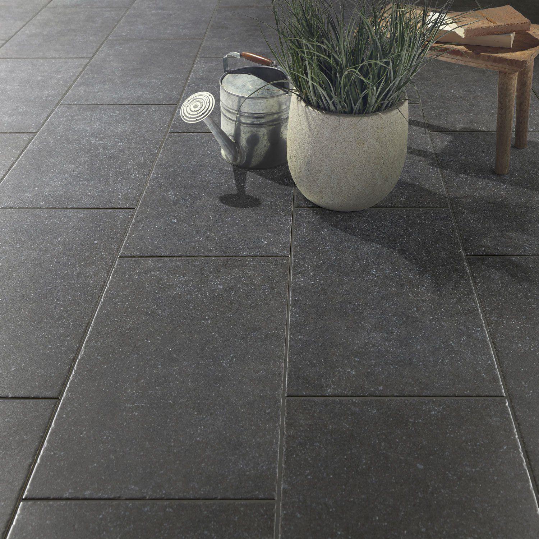 Charmant Carrelage Sol Noir Effet Pierre Bruges L.30 X L.60.4 Cm