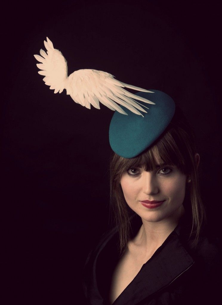 Wing Hat, The Children of Lir Collection by Davina Lynch Millinery