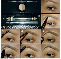 Learn how to shape eyebrows with eyebrow kit. #eyebrows #makeup