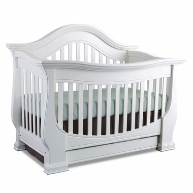 Baby Appleseed Davenport 3 In 1 Convertible Crib In Pure