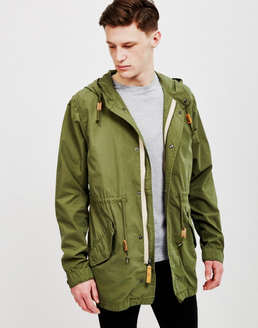 Alpha Industries Light Weight Fishtail Parka Olive | Shop men's ...