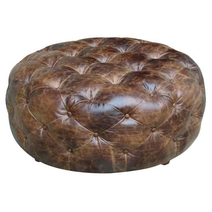 Admirable Leather Diamond Tufted Ottoman For The Center Of My Walk In Gmtry Best Dining Table And Chair Ideas Images Gmtryco