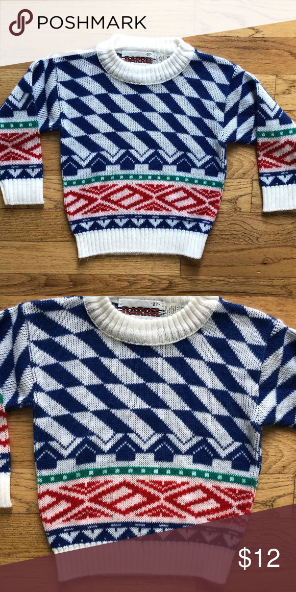 b331649d09067e Rad vintage Crewneck Sweater This is the coolest sweater ever! Excellent  vintage condition. Size 2T. Shirts   Tops Sweaters