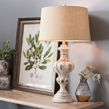 Weathered Farmhouse Table Lamp, Set of