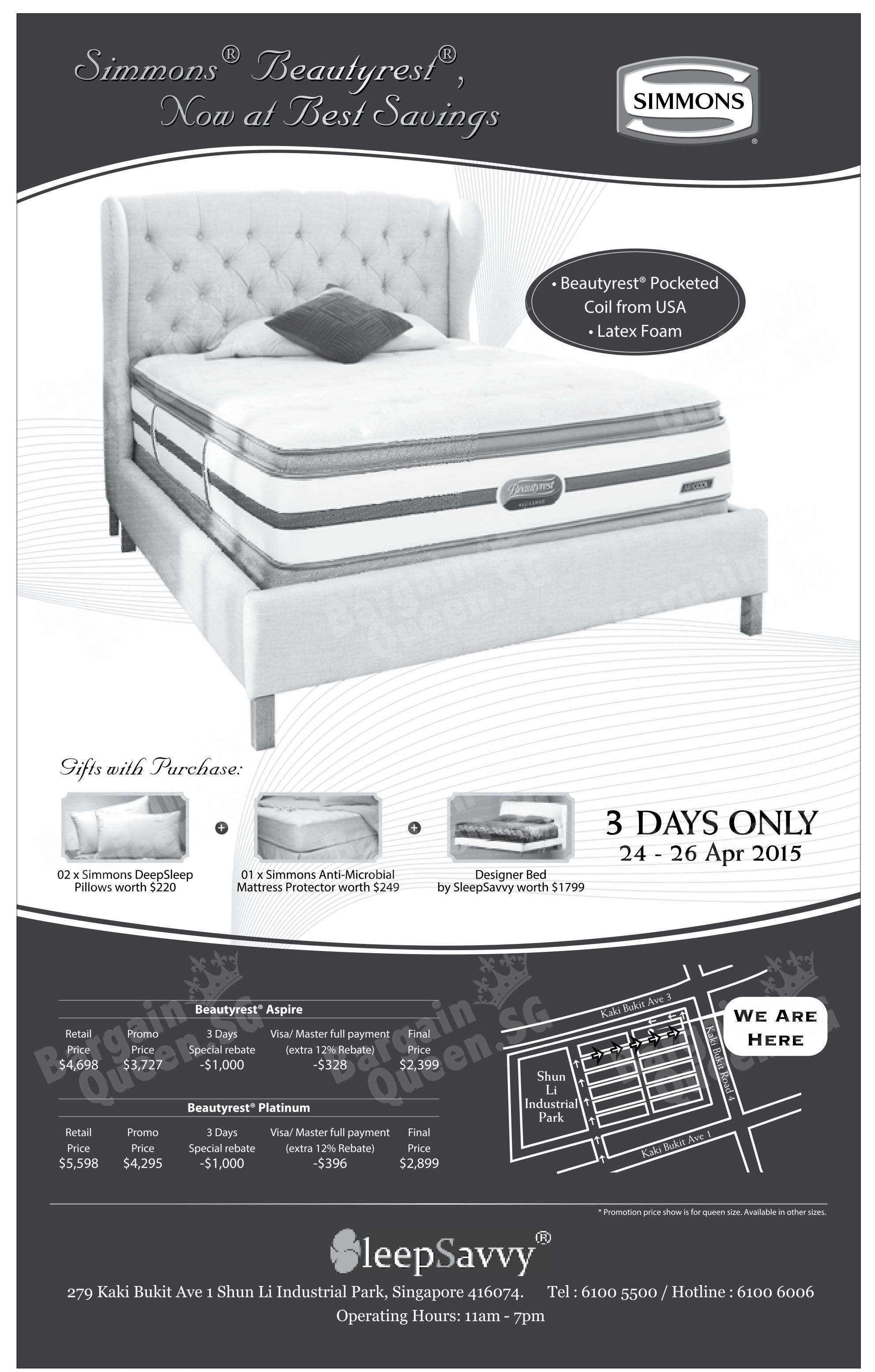 simmons ad singapore Google Search Mattress, Best savings