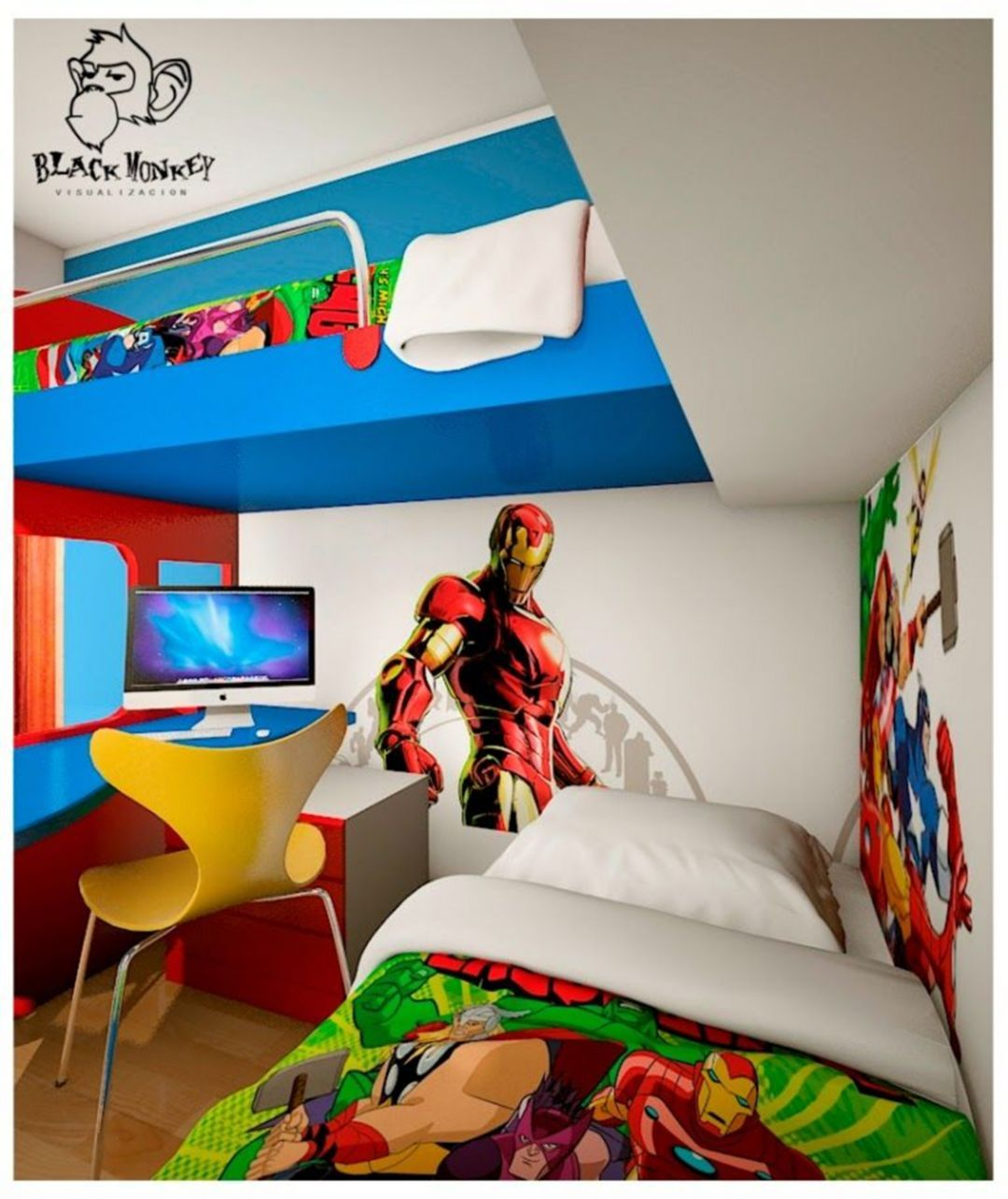 30 Gorgeous Heroes Kids Bedroom Design And Decor Ideas For Your Cute Boy images