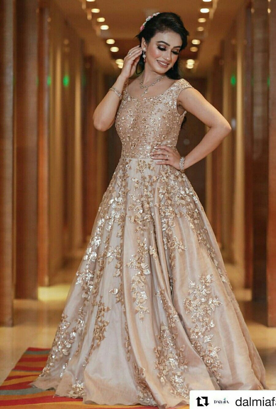 Image result for gown for indian wedding party