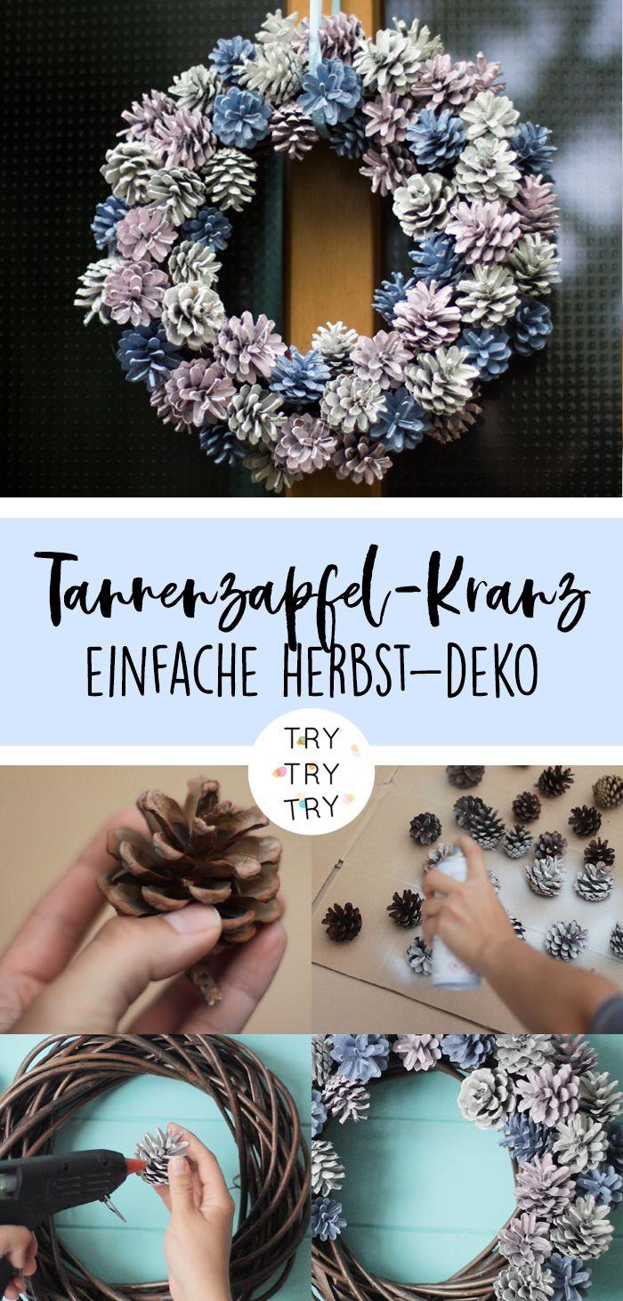 Herbstlicher Tannenzapfen-Kranz | Herbst-Deko | DIY Deko | Dekoration | Tannenzapfen | Kranz #hausdeko