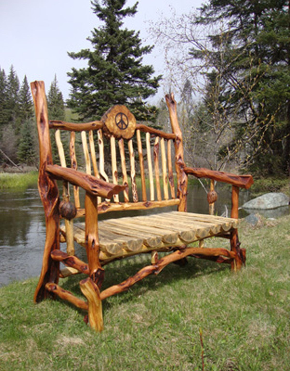 Tree Branch Rocking Chair Indoor Zero Gravity Log Diamond Willow Furniture