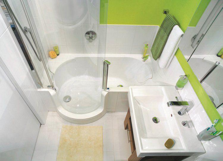 33 id es pour petite salle de bain avec astuces pratiques for Cabine de douche et baignoire