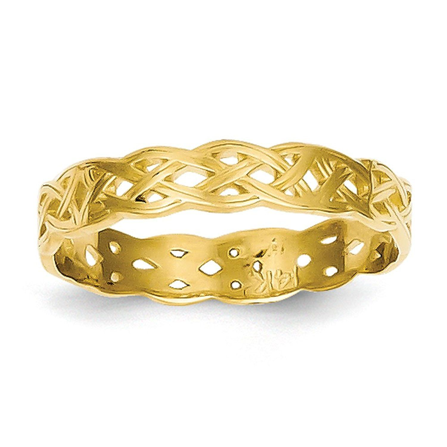 14K Yellow Gold Celtic Knot Band Ring *** You can find