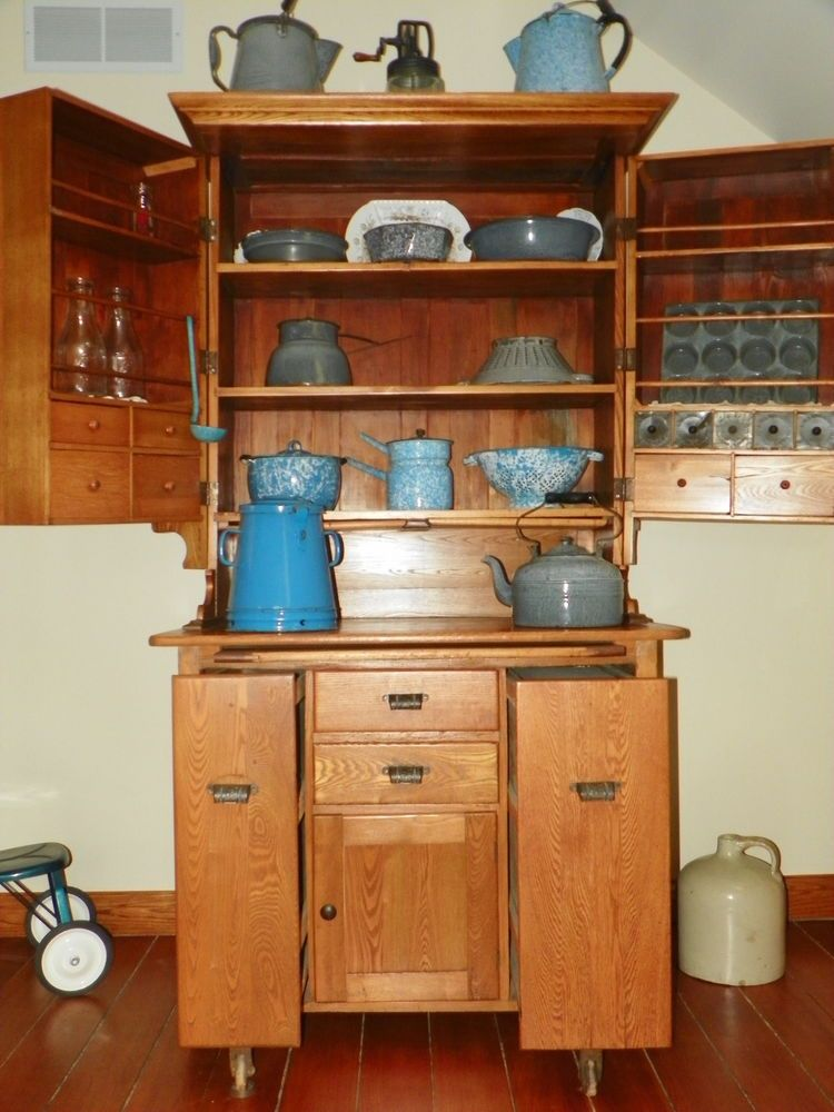 antique farmhouse kitchen cabinets Antique Elwell Kitchen Cabinet   Hoosiers Now and Then