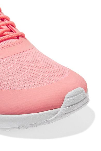 newest 22a83 7fdce Nike - Air Max Thea Croc-effect Leather-trimmed Coated Mesh Sneakers - Coral