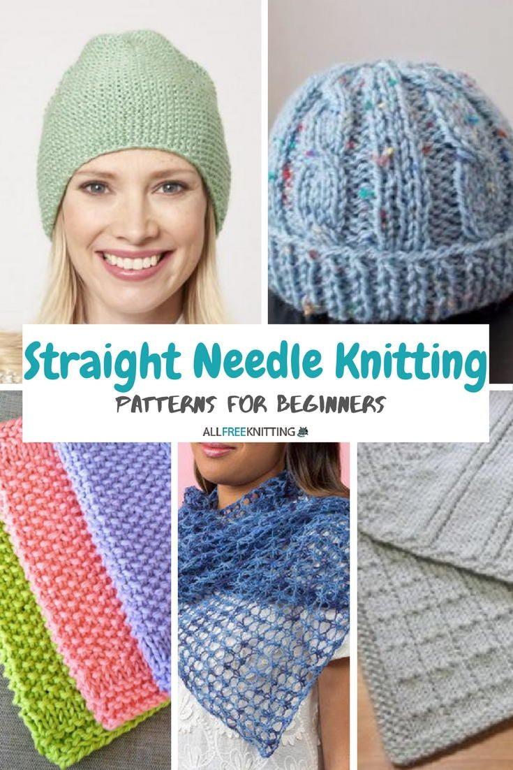 24 Straight Needle Knitting Patterns for Beginners | Knitting ...