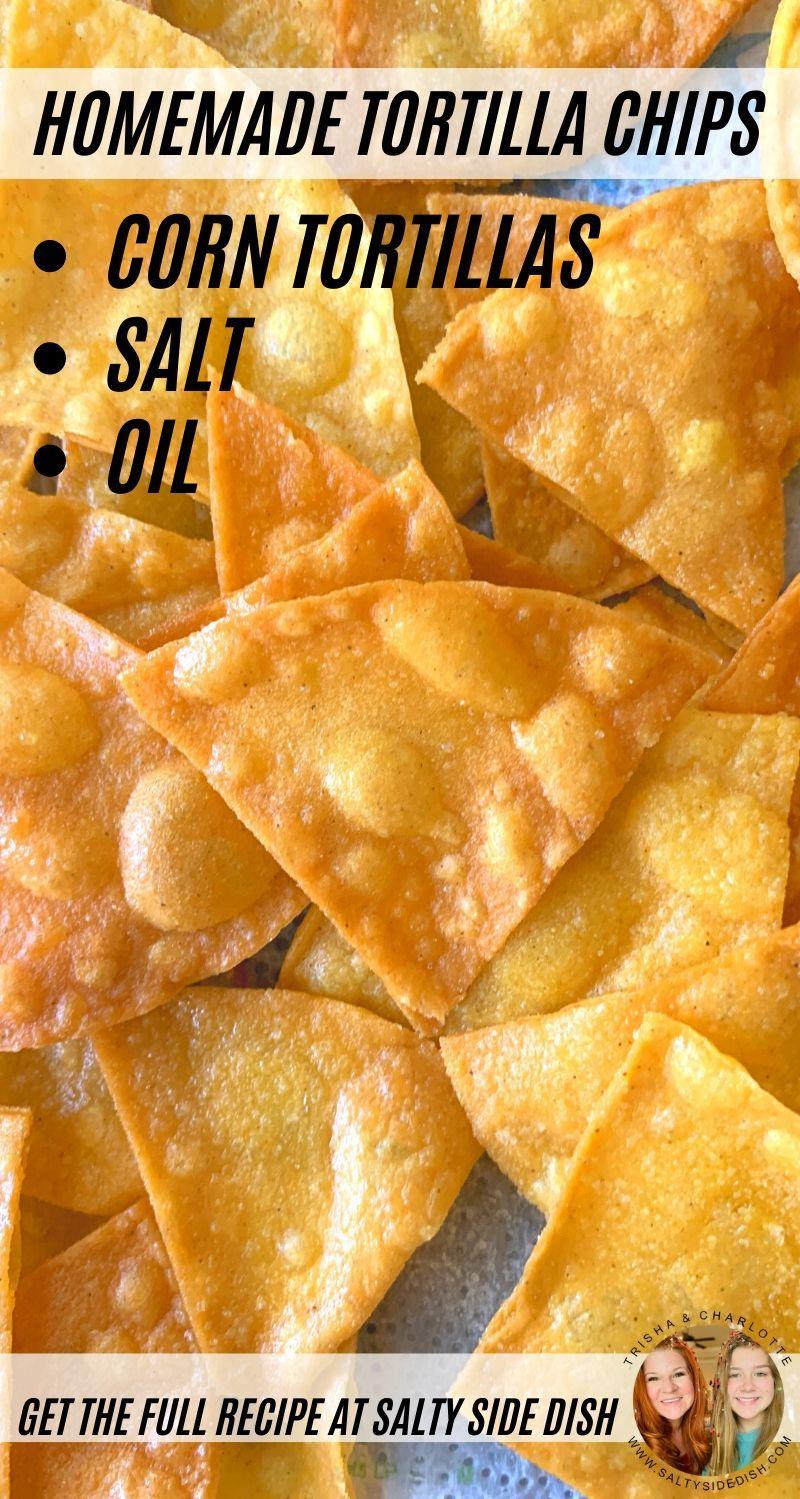 Homemade Tortilla Chips From Corn Tortillas In 2020 Homemade Tortilla Chips Tortilla Chips Homemade Tortillas