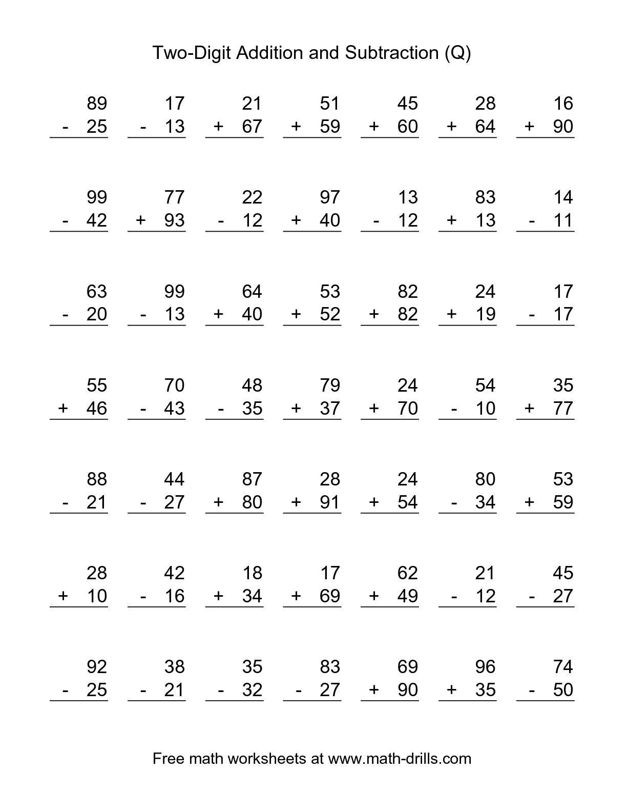 Free Printable Math Worksheets 2nd Grade Subtraction 3 In