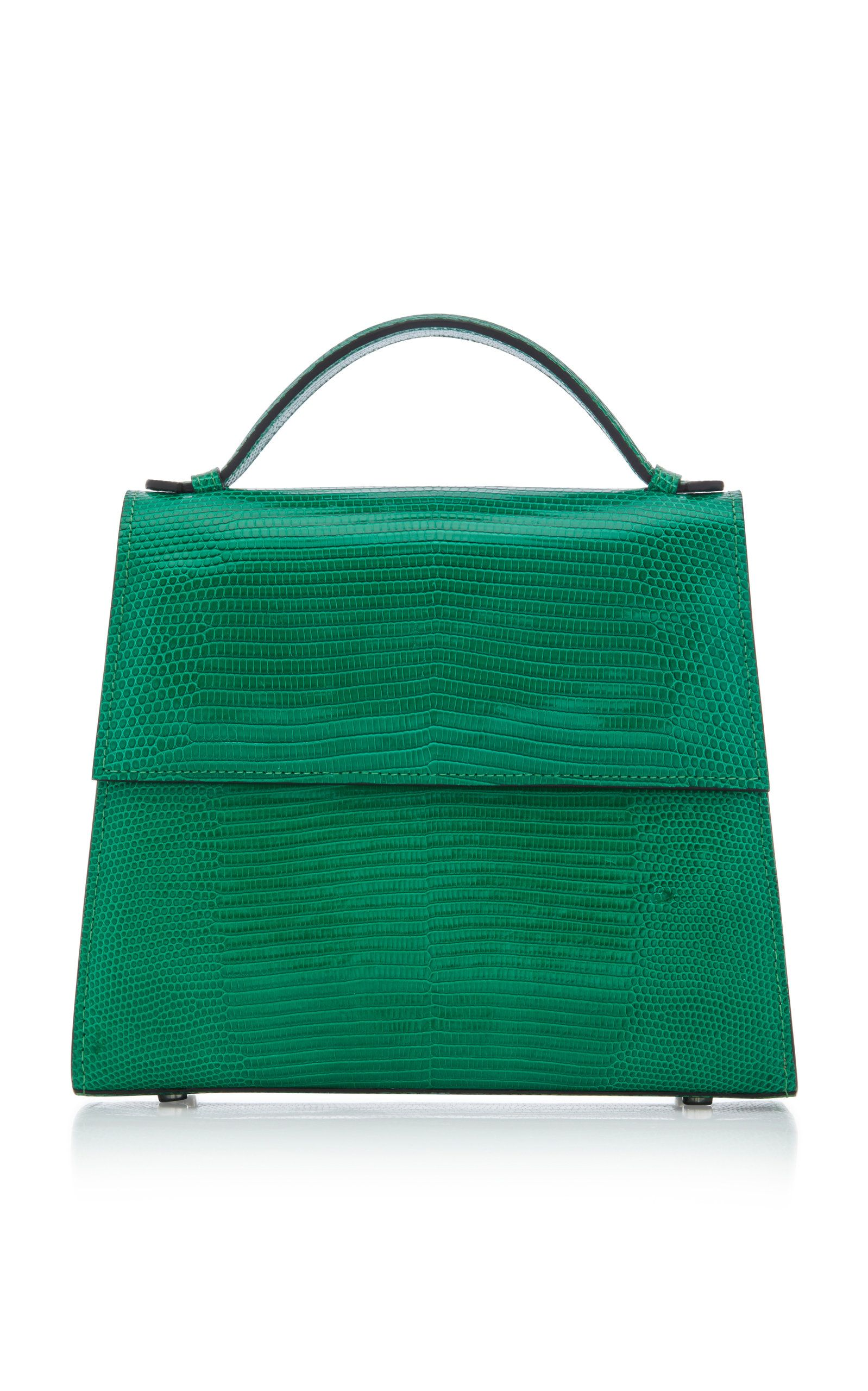 Hunting Season Mini Top Handle Lizard Handbag Green Cad 1 970 Designed With Minimal Lines S Frame Is Made From Textural