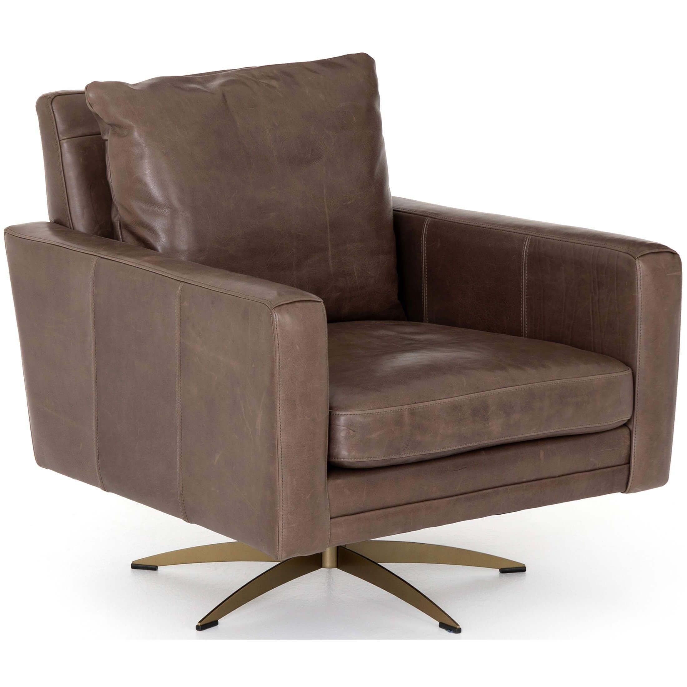 Lyndon Leather Swivel Chair Dakota Fossil Modern Swivel Chair Leather Swivel Chair Swivel Chair