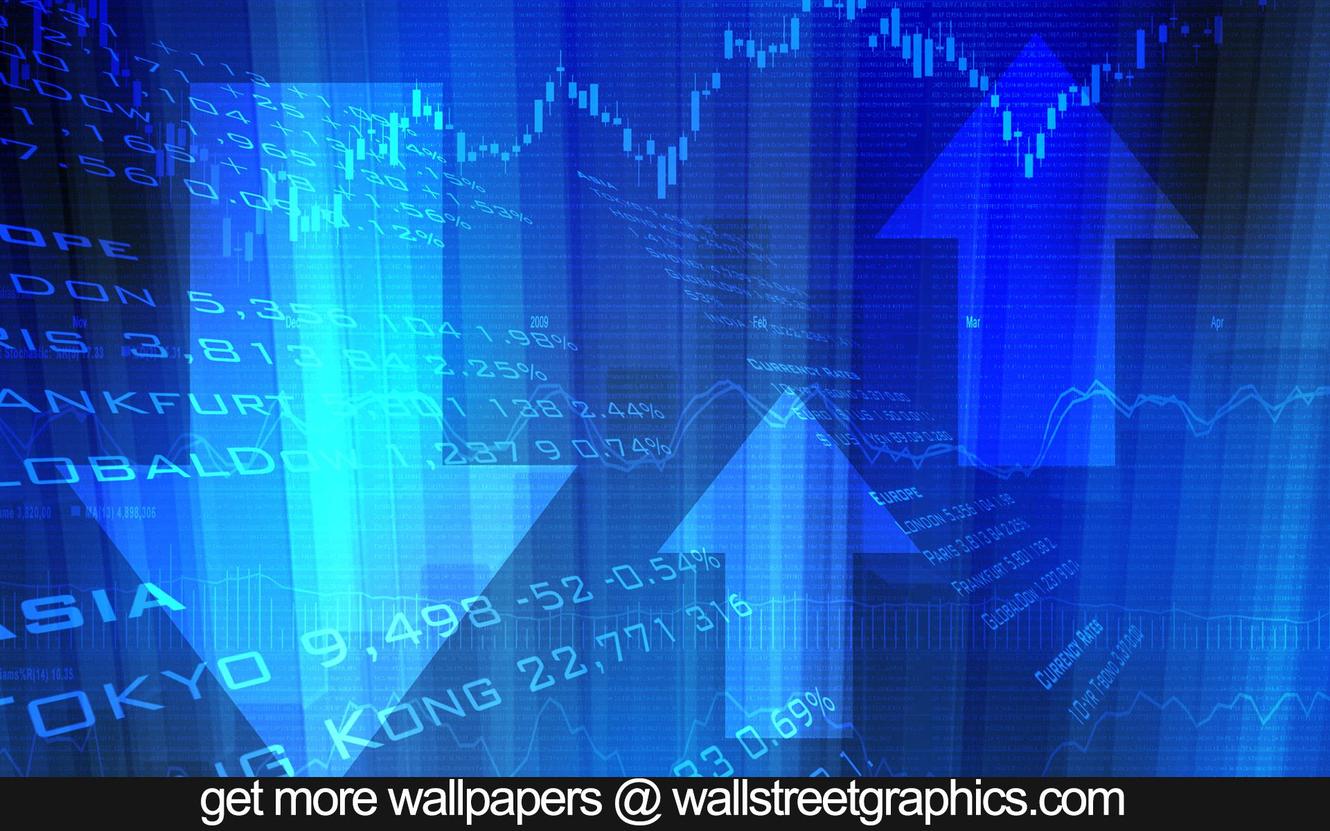 wall street stock market graphs and loopable background
