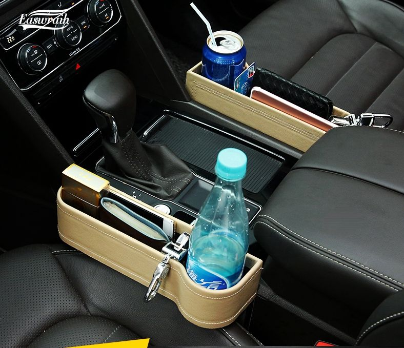 Car Seat Leak Proof Storage Box Seat Crevice Bag Case For