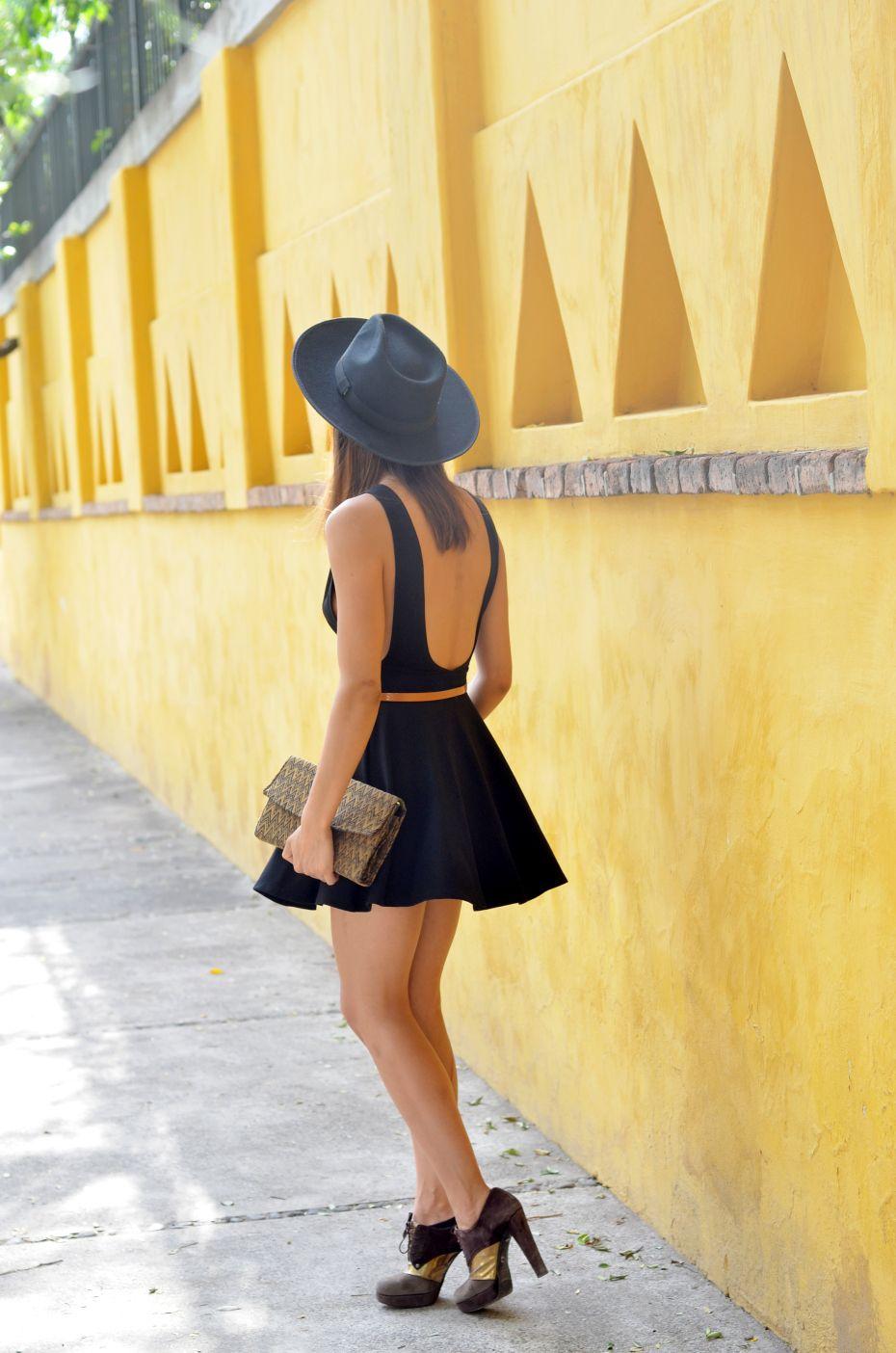 cutout little black dress