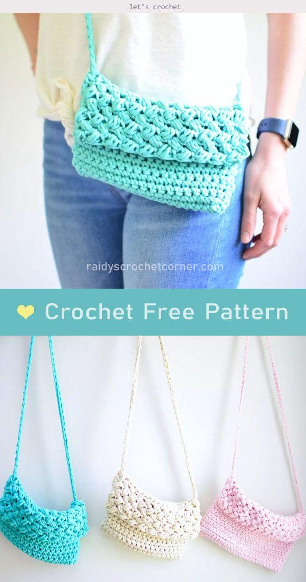 Cross-Body Bag Free Crochet Pattern