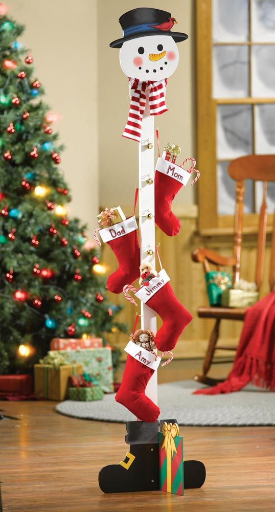 Snowman Christmas Stocking Holder Tree From Collections