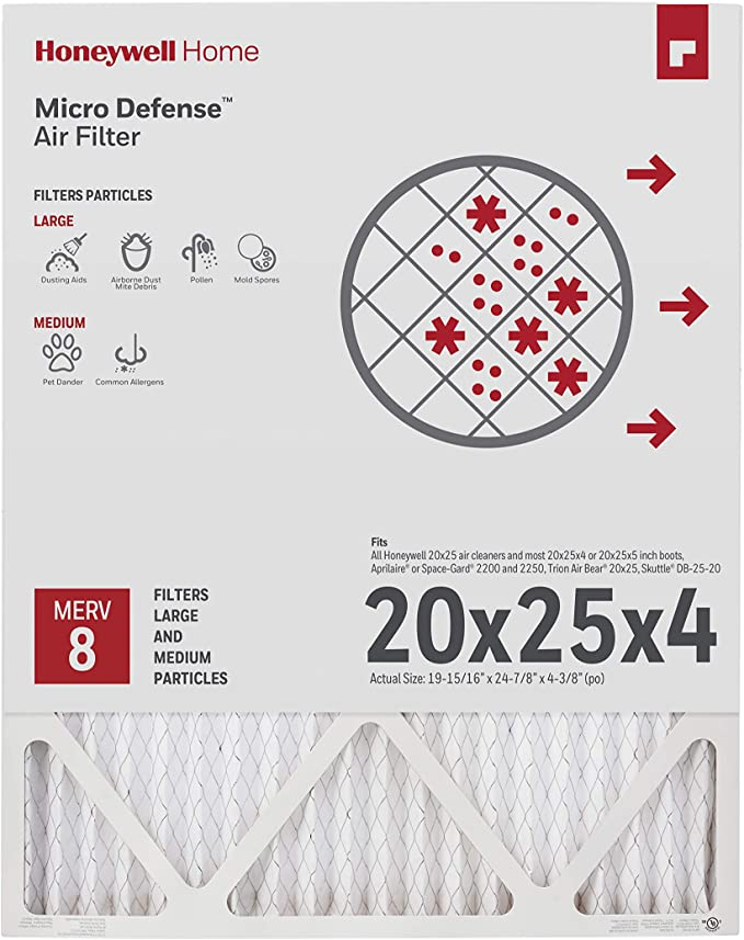 Honeywell Home 4Inch High Efficiency Air Cleaner Filter