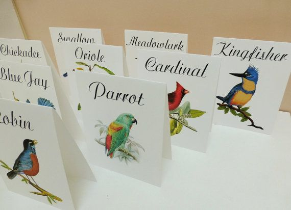 Wedding Table Tent Cards Vintage Table Card Vintage Bird - Wedding table tents