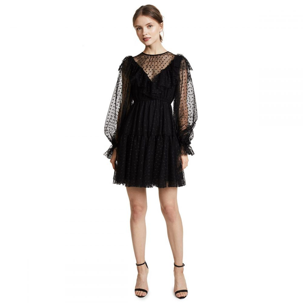 فستان تل منقط أنيق قصير بأكمام فانوس مميزة Price 82 02 Free Shipping Https Lbsah Com D9 81 D8 B3 D8 Aa Mini Black Dress Mini Dress Mini Dresses Summer