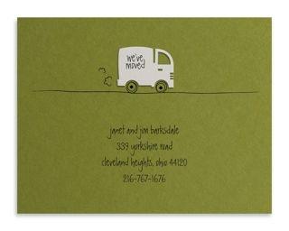 Printed Moving Van Announcement