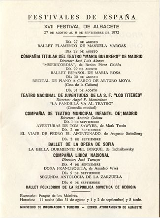 XVII Festivales de Albacete
