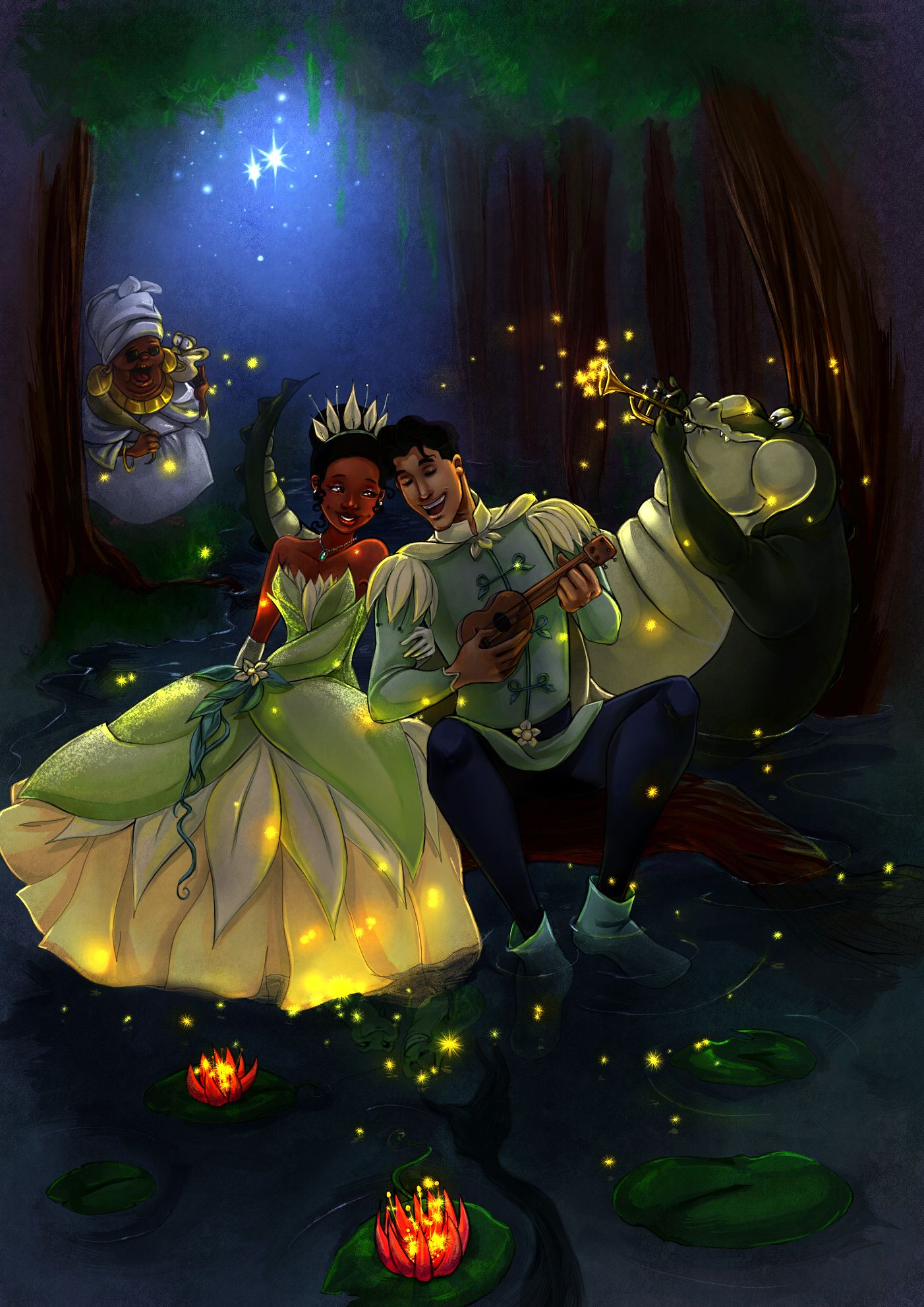 Princess And The Frog Ray And Evangeline