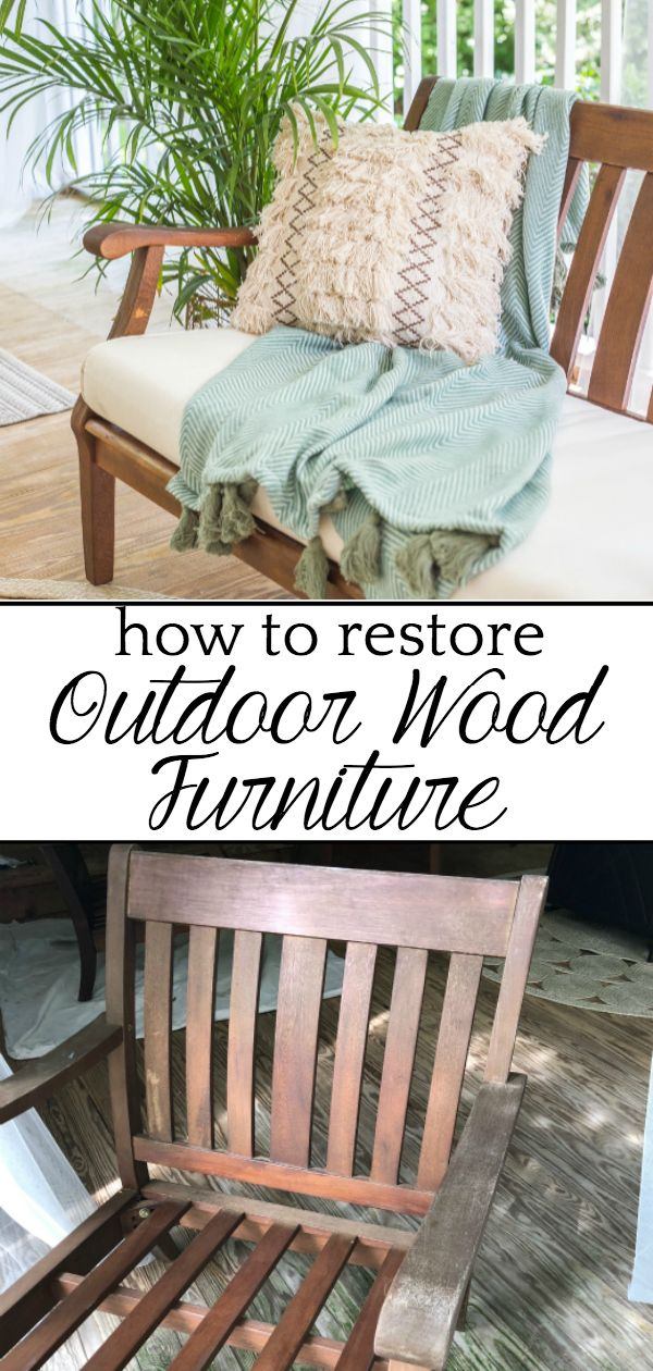 How to Restore Wood Outdoor Furniture   Outdoor wood ...
