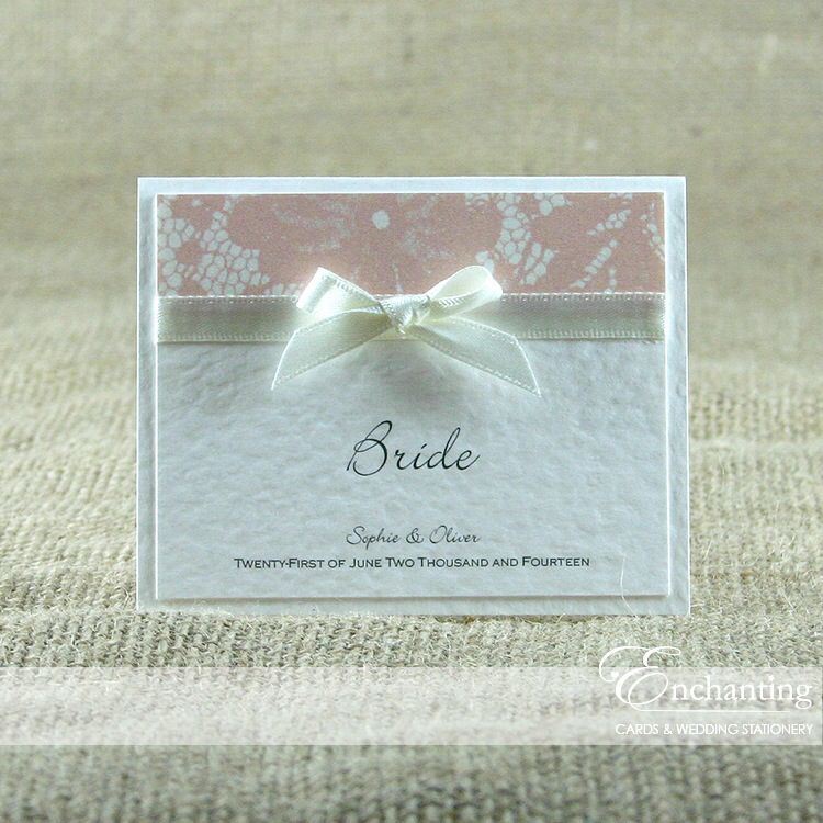 The Belle Collection - Luxury Place Card | Available in any colour ...