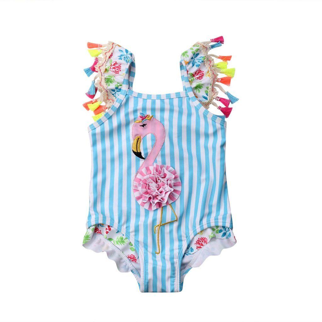 1cc388f0d0789 Girls Flamingo Swimsuit. Girls Flamingo Swimsuit Flamingo Bikini, Pageant  Girls, Baby Swimsuit, One Piece ...