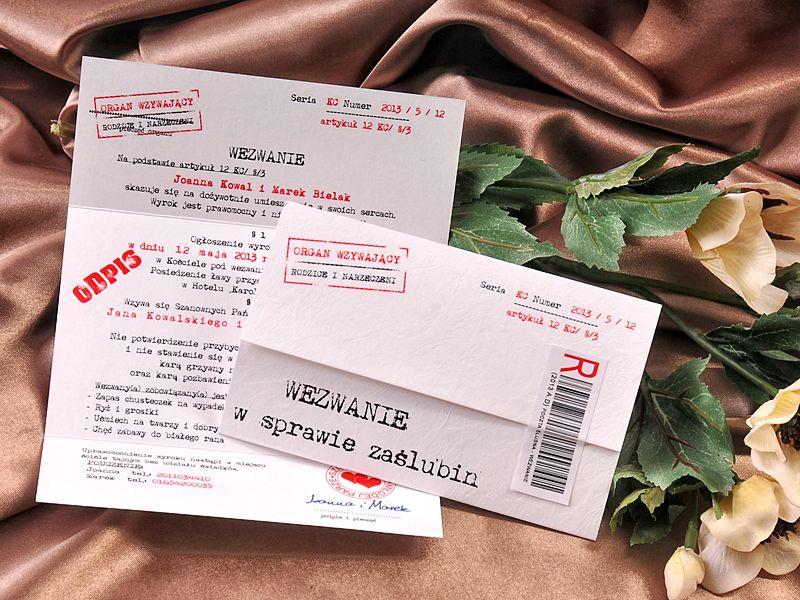 Zaproszenia ślubne Kalendarzbilet Do Teatruwezwanie Telegram