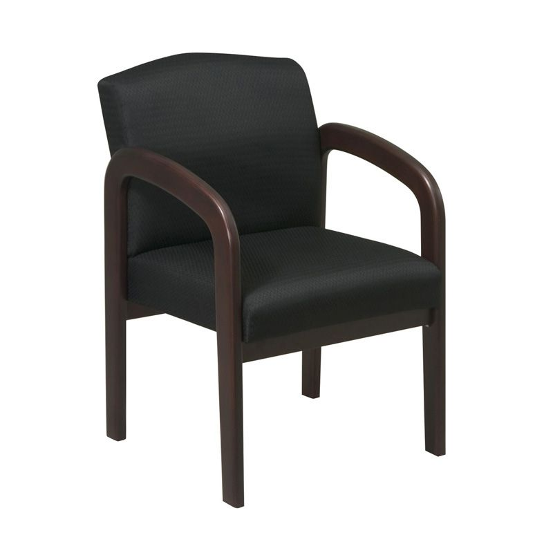 OFD Guest It Seating GI-300 Wood Guest Chair with Full Padded Back; Available in three finishes and three fabrics #office #chair #guestchair #reception